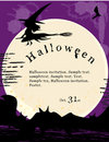 Halloween invitation poster. Stock Photos