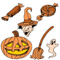 Halloween item set an image of a items Royalty Free Stock Image