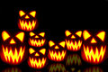 Halloween jack-o-lantern scene Royalty Free Stock Photography