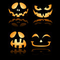 Halloween Jack o Lantern Smiles and Grin Royalty Free Stock Photos