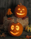 Halloween Jack-O-Lanterns Stock Photography