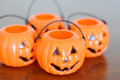 Halloween jack o lanterns orange Royalty Free Stock Photo