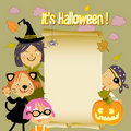Halloween Kids background Stock Images