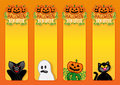 Halloween Labels Stock Photo