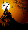 Halloween landscape Royalty Free Stock Photography