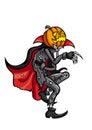 Halloween Laughing Jack Pumpkin Head Royalty Free Stock Photo