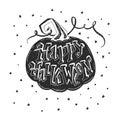 Halloween lettering poster