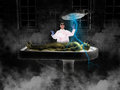 Halloween Mad Scientist Frankenstein Monster Royalty Free Stock Photo