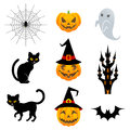 Halloween material set vector illustration of Stock Photography