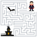 Halloween Maze - Dracula & Haunted House Royalty Free Stock Photo