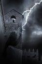 Halloween medieval raven Royalty Free Stock Photo