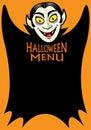 Halloween Menu Royalty Free Stock Photography