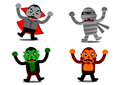 Halloween monster cartoon character illustration graphic of Royalty Free Stock Photography