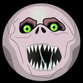 Picture : Halloween Monster Faces emoji smiley ghoul  haunted glass