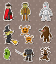 Halloween monster sitckers Royalty Free Stock Photos