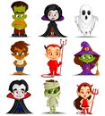 Halloween monster vector illustration of costume Royalty Free Stock Photos