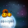 Halloween moonlight night background Stock Photos