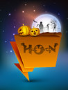 Halloween moonlight night banner Stock Photography