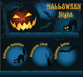 Halloween night template for website background with pumpkin Stock Photo