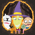 Halloween night trick or treat a vector illustration of see related image Royalty Free Stock Images