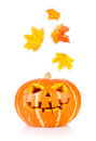 Halloween old jack o lantern isolated on white background Stock Image