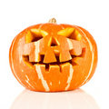 Halloween, old jack-o-lantern on white Stock Image