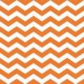 Halloween orange chevron seamless pattern background Orange zig zag geometric repeating pattern Vector