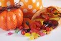 Halloween Orange Polka Dot Tri...