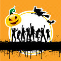 Halloween party background Royalty Free Stock Images