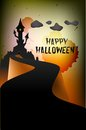 Halloween party background design spooky night invitation Stock Photos