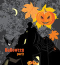 Halloween party background festive illustration Royalty Free Stock Images