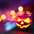 Halloween party background for invites or other design items Royalty Free Stock Photo