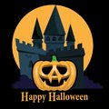 Halloween Party Background with Pumpkins Royalty Free Stock Image