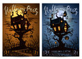 Halloween party banner set with spooky castle