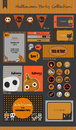 Halloween party collection vector halloween labels icons elements greeting card eps illustrator set of retro ribbons Royalty Free Stock Images