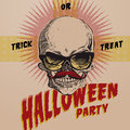 Halloween party design template vector eps image Stock Photography