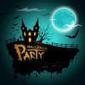Halloween party greeting card Stock Image