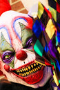 Halloween party horror clown Royalty Free Stock Photo