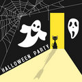 Halloween Party Invitation Card Royalty Free Stock Photography