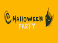 Halloween party invitation with a cat Stock Images