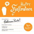 Halloween party invitation design template with hand written text elements Stock Photos