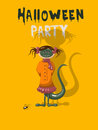 Halloween party invitation with monster Royalty Free Stock Photos