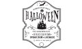 Halloween party invitation vector badge