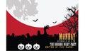 Halloween party invitation vector badge