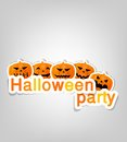 Halloween party label vector sticker Royalty Free Stock Images