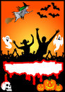 Halloween Party Placard Stock Photo