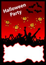 Halloween Party Placard Royalty Free Stock Photos