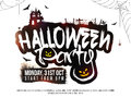 Halloween Party Poster, Banner or Flyer design. Royalty Free Stock Photo