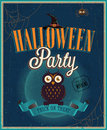 Halloween party poster vector illustration Royalty Free Stock Photos