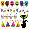 Halloween party set a vector illustration of see related image Stock Photography